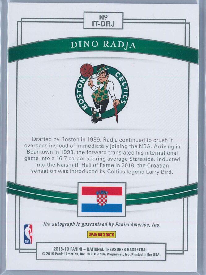 Dino Radja Panini National Treasures 2018 19 International Treasures Auto 4299 2 1