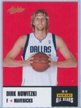 Dirk Nowitzki Panini Absolute Memorabilia 2010-11 Panini All Stars