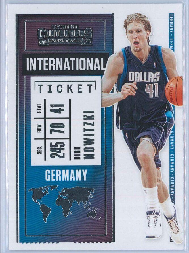 Dirk Nowitzki Panini Contenders Basketball 2020-21 International Ticket