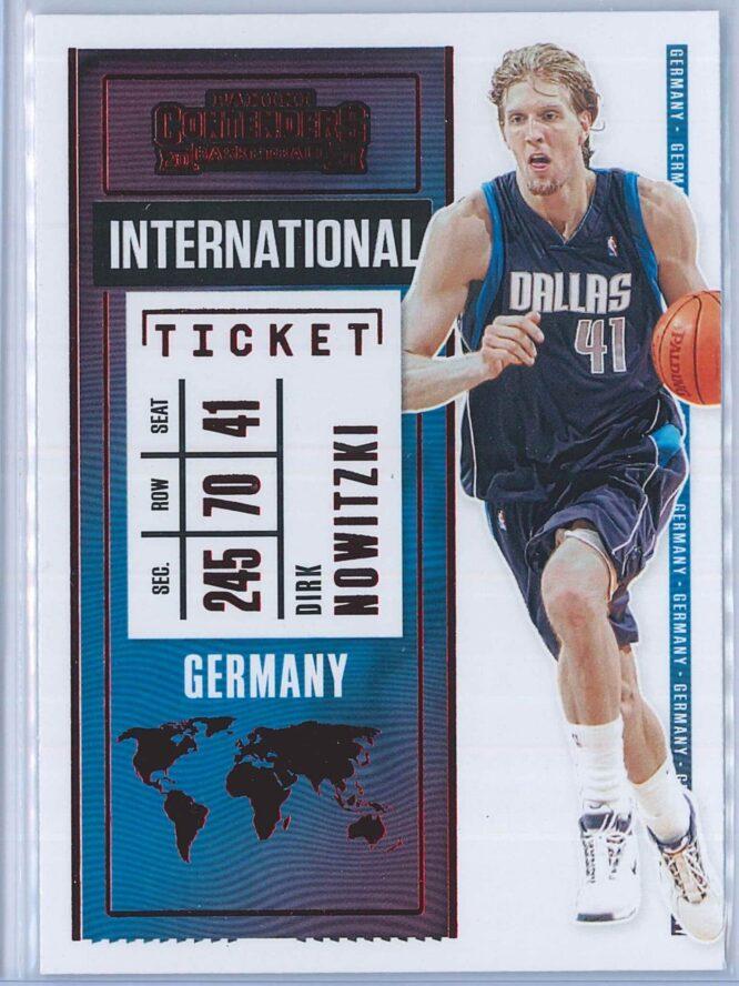 Dirk Nowitzki Panini Contenders Basketball 2020-21 International Ticket Red