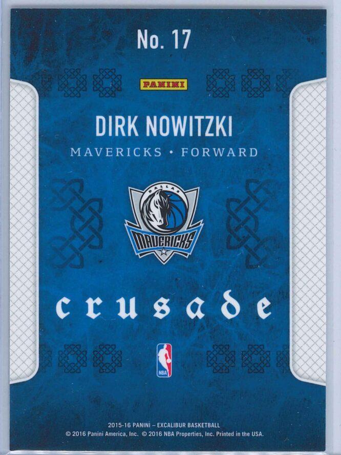 Dirk Nowitzki Panini Excalibur Basketball 2014 15 Crusade Camo 2