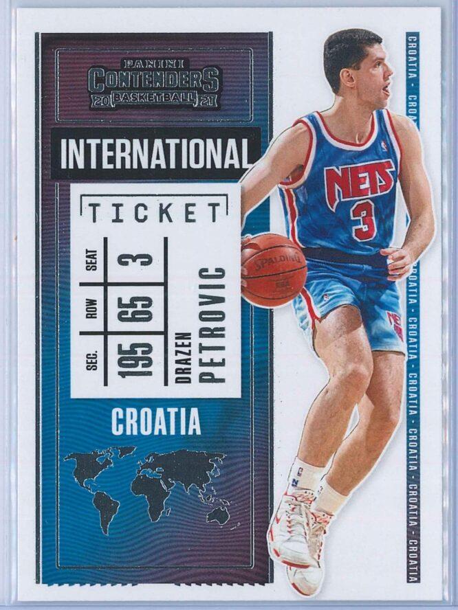 Drazen Petrovic Panini Contenders Basketball 2020-21 International Ticket