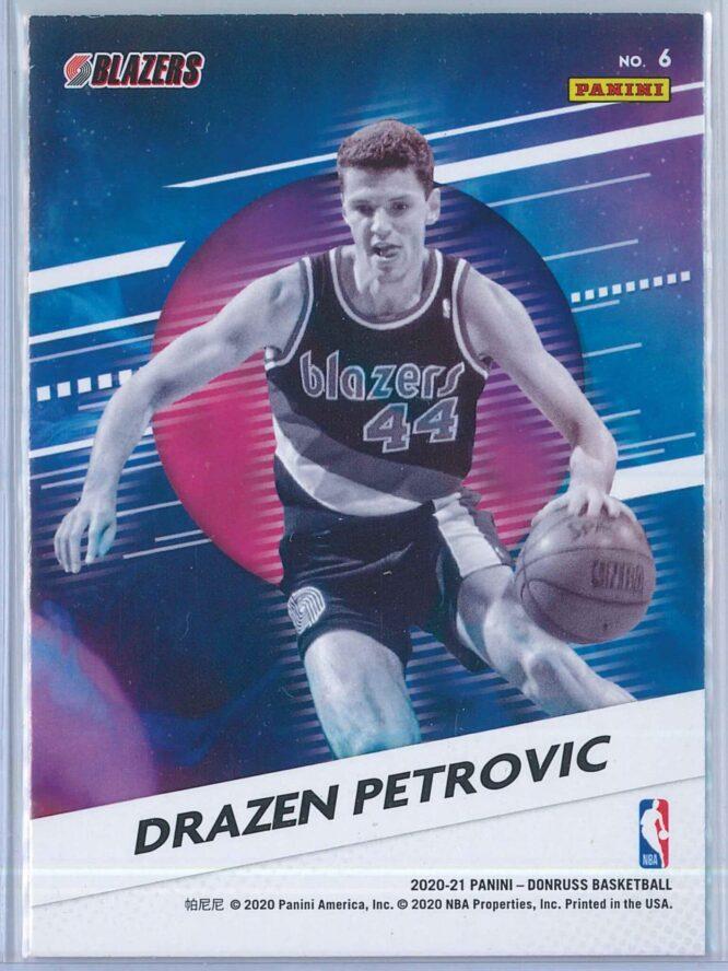 Drazen Petrovic Panini Donruss Basketball 2020 21 Retro Series Press Proof 2