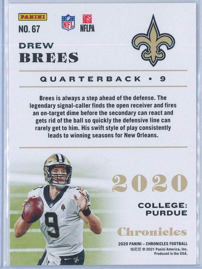 Drew Brees Panini Chronicles Football 2020 Base 2