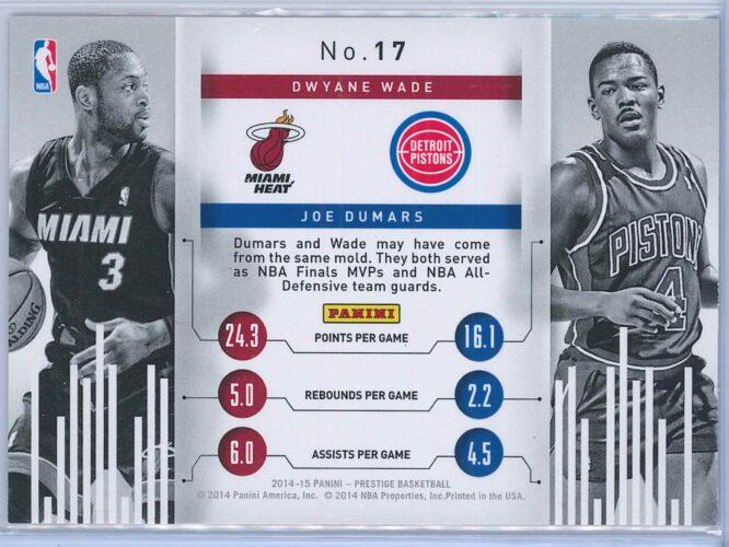 Dwyane Wade Joe Dumars Panini Prestige Basketball 2014 15 Connections 2