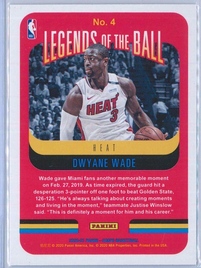 Dwyane Wade Panini NBA Hoops 2020 21 Legends Of The Ball 2