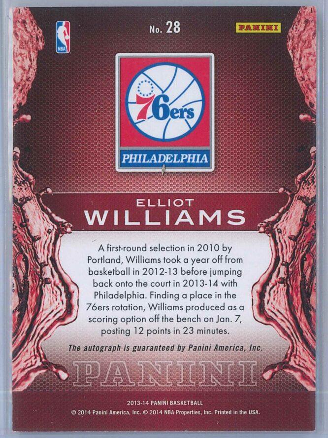 Elliot Williams Panini Panini Basketball 2013 14 Rising Tide Autographs 2
