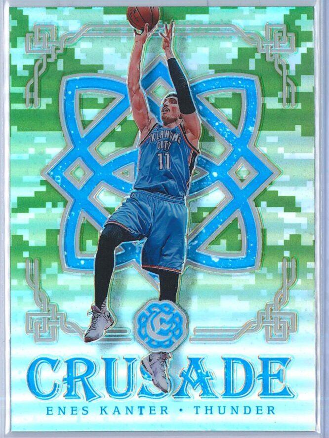 Enes Kanter Panini Excalibur Basketball 2016-17 Crusade Camo