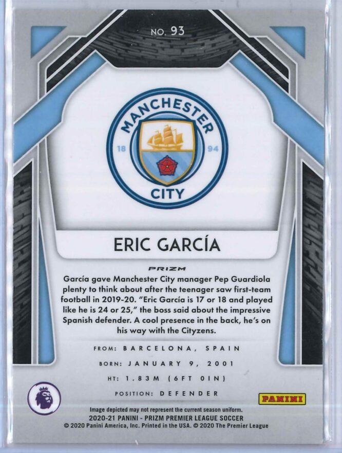 Eric Garcia Panini Prizm Premier League Soccer 2020 21 Base Silver Prizm RC 2