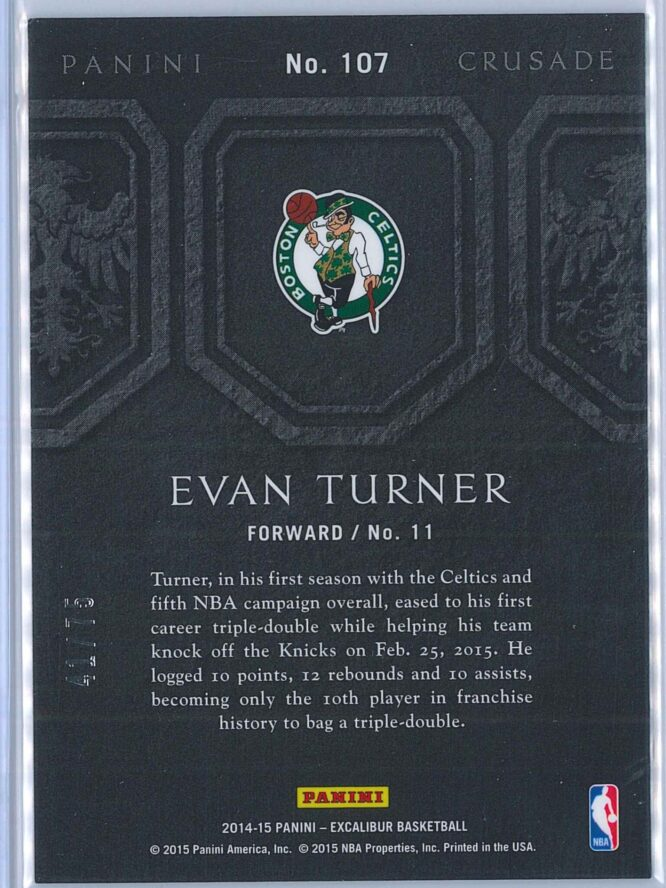 Evan Turner Panini Excalibur Basketball 2014 15 Crusade Camouflage Purple 4175 2