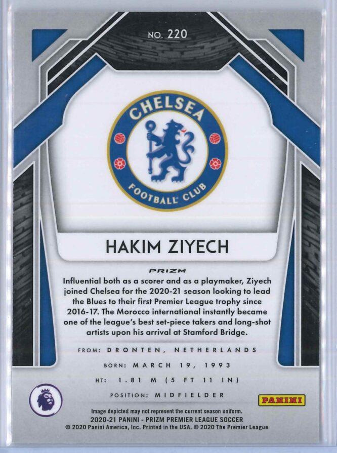 Hakim Ziyech Panini Prizm Premier League Soccer 2020 21 Base Silver Prizm 2