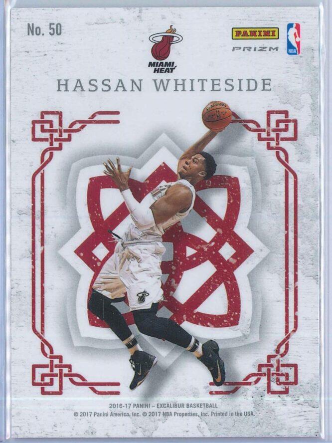 Hassan Whiteside Panini Excalibur Basketball 2016 17 Crusade Camo 2