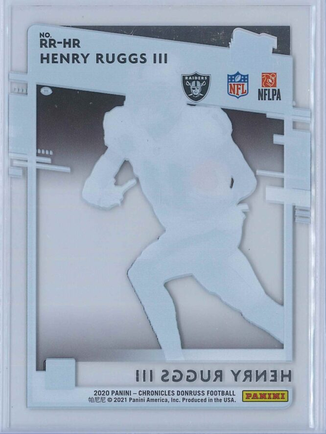 Henry Ruggs III Panini Chronicles Football 2020 Clearly Donruss Rated Rookie 2