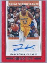 Isaac Bonga Panini NBA Hoops 2019-20 Great SIGnificance   Auto