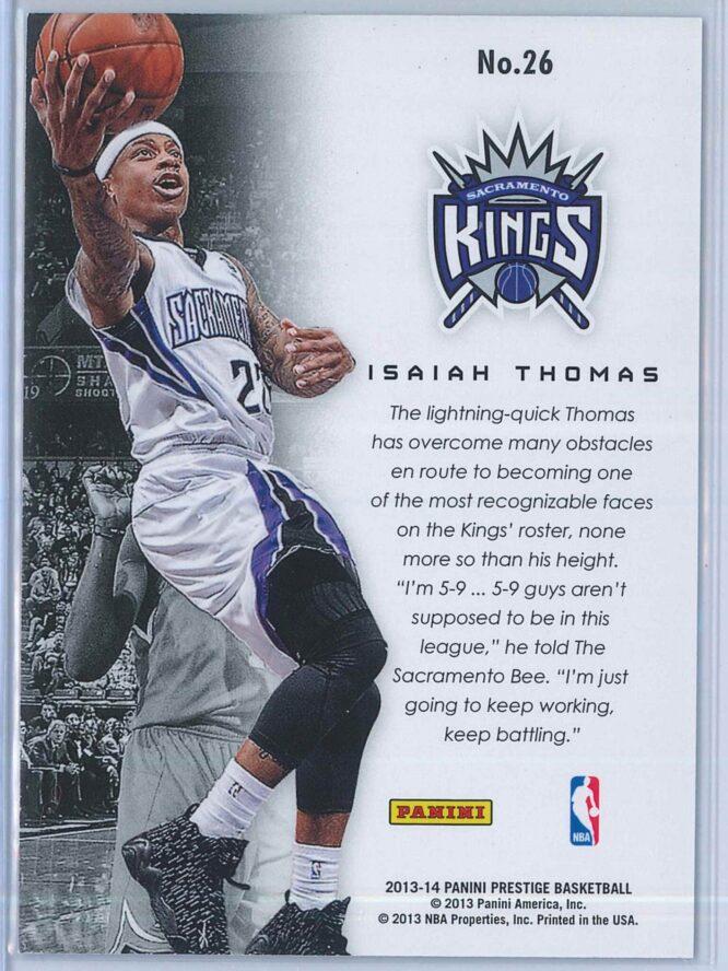 Isaiah Thomas Panini Prestige Basketball 2013 14 Franchise Favorites 2