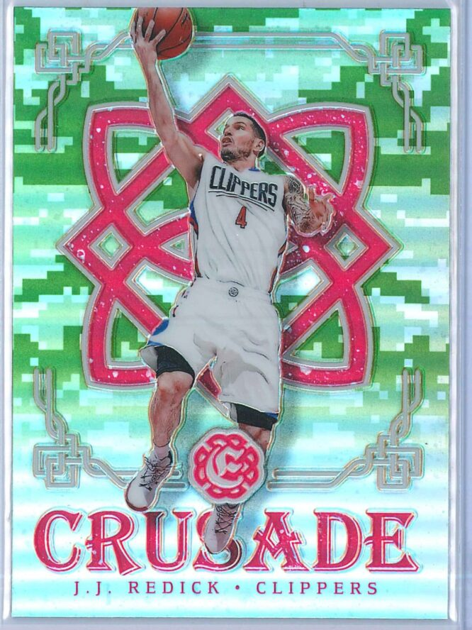J.J. Redick Panini Excalibur Basketball 2016-17 Crusade Camo