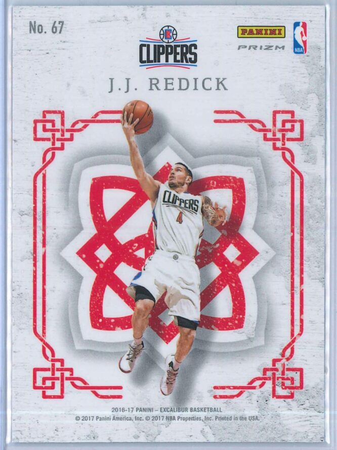 J.J. Redick Panini Excalibur Basketball 2016 17 Crusade Camo 2