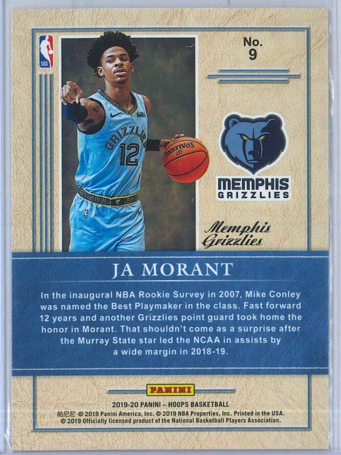 Ja Morant Panini NBA Hoops 2019 20 Class of 2019 2