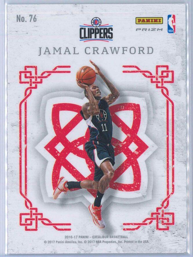 Jamal Crawford Panini Excalibur Basketball 2016 17 Crusade Camo 2