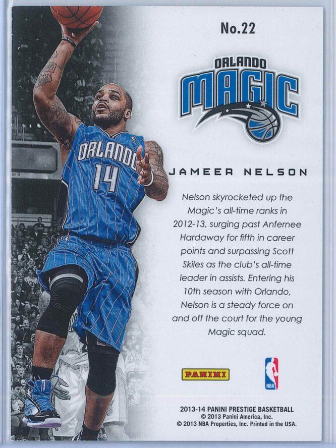 Jameer Nelson Panini Prestige Basketball 2013 14 Franchise Favorites 2