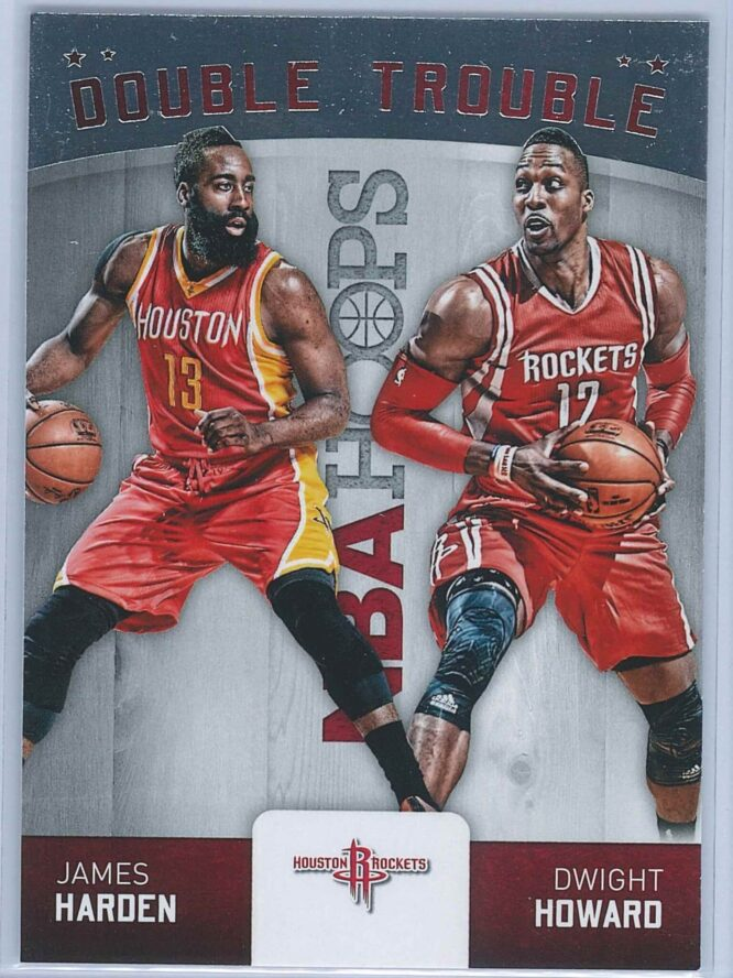 James Harden - Dwight Howard Panini NBA Hoops Basketball 2015-16 Double Trouble