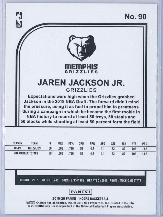 Jaren Jackson Jr. Panini NBA Hoops 2019 20 Purple 2