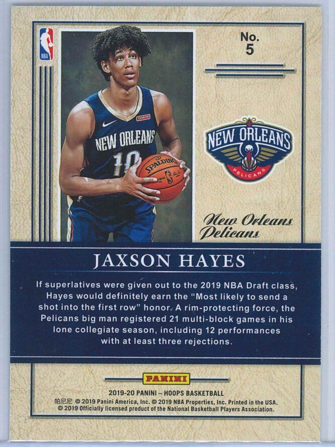 Jaxson Hayes Panini NBA Hoops 2019 20 Class of 2019 2