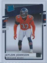 Jaylon Johnson Panini Chronicles Football 2020 Clearly Donruss  Rated Rookie