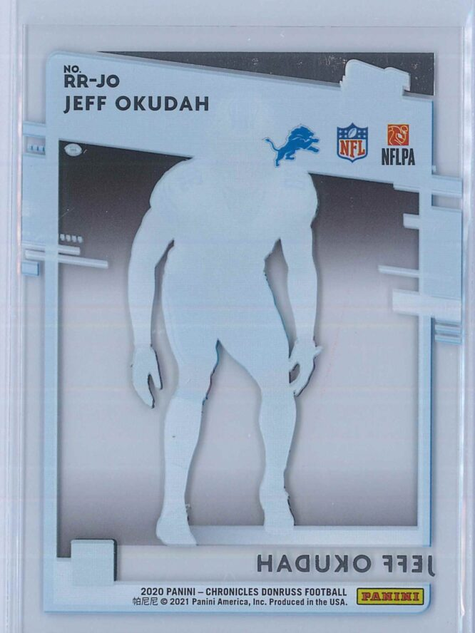 Jeff Okudah Panini Chronicles Football 2020 Clearly Donruss Rated Rookie 2