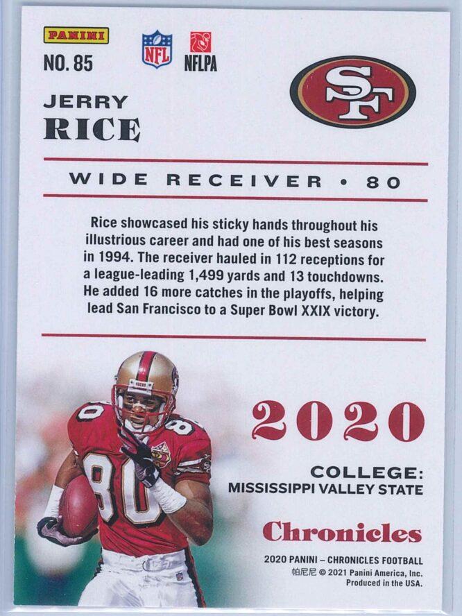 Jerry Rice Panini Chronicles Football 2020 Base 2