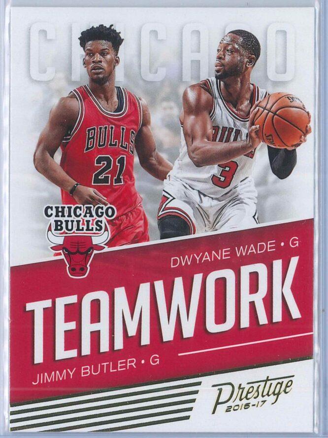 Jimmy Butler - Dwyane Wade Panini Prestige Basketball 2016-17 Teamwork