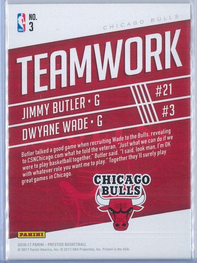 Jimmy Butler Dwyane Wade Panini Prestige Basketball 2016 17 Teamwork 2
