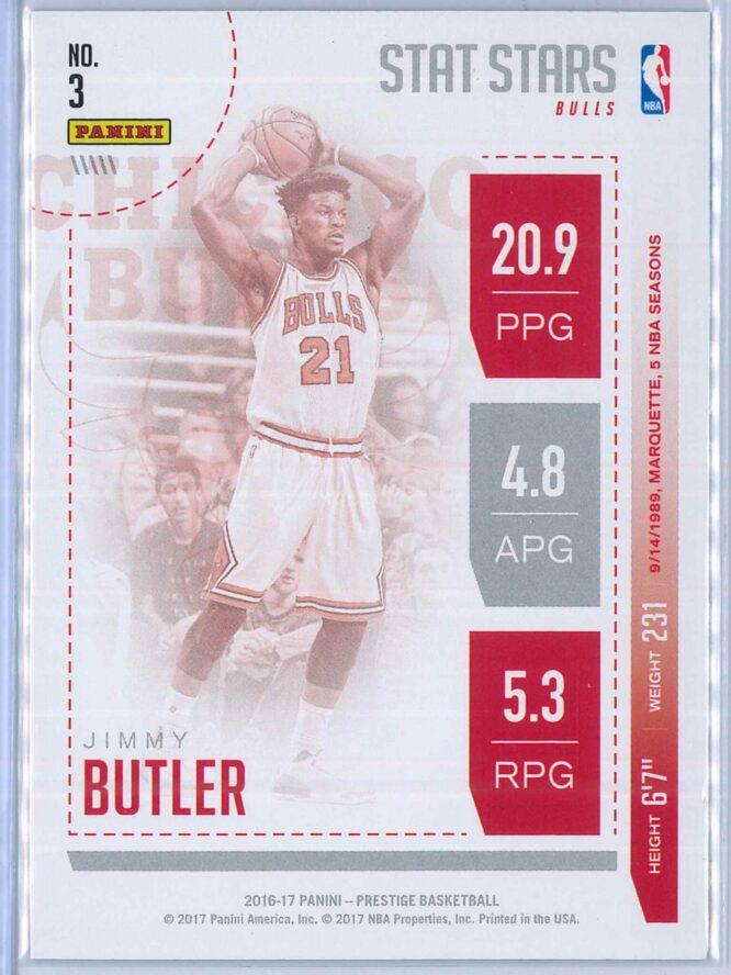 Jimmy Butler Panini Prestige Basketball 2016 17 Stat Stars 2
