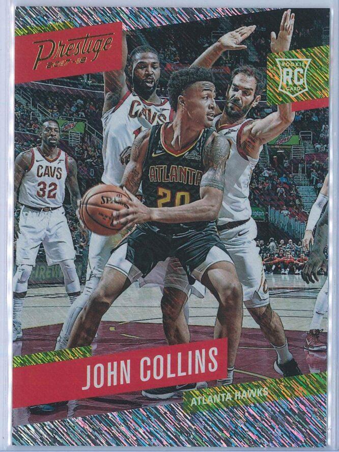 John Collins Panini Prestige Basketball 2017-18 Base Rain Parallel  RC