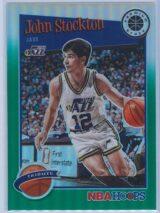 John Stockton Panini NBA Hoops Premium Stock 2019-20 Tribute Green Prizm