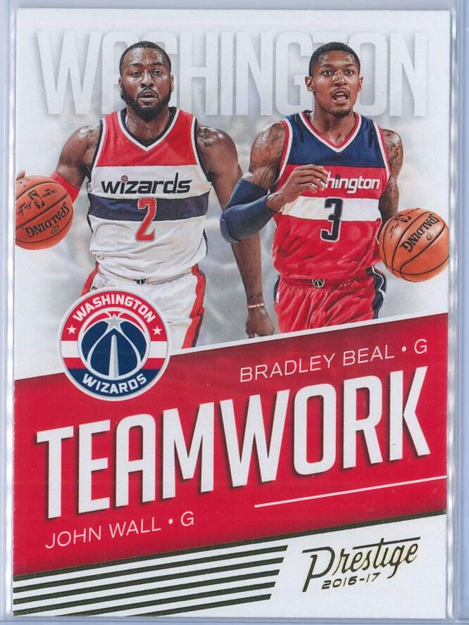 John Wall - Bradley Beal Panini Prestige Basketball 2016-17 Teamwork