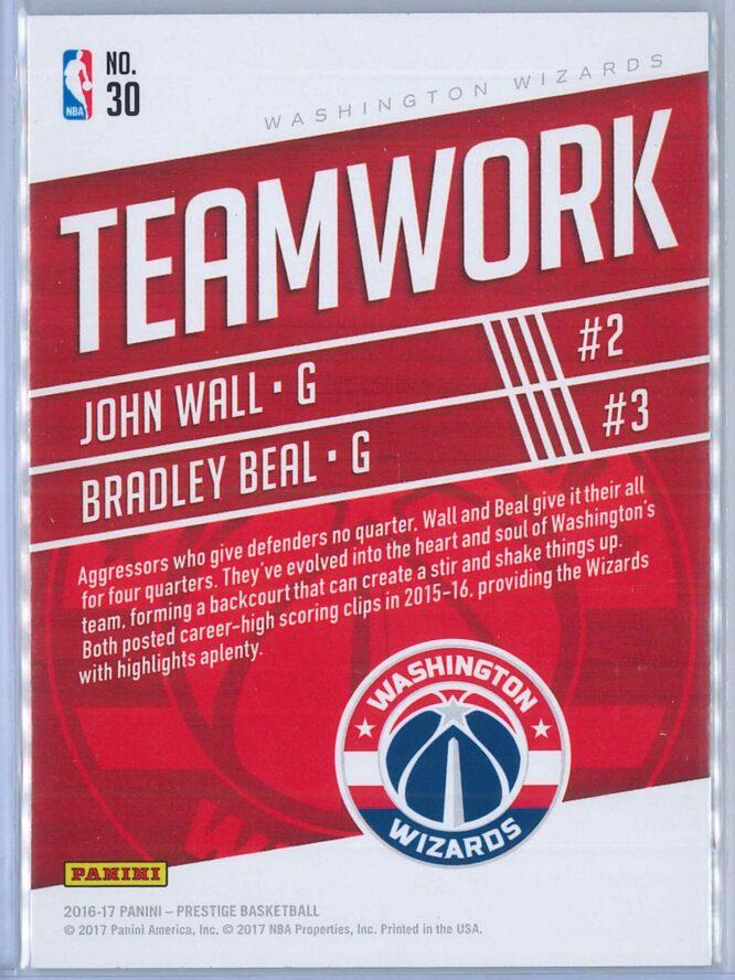 John Wall Bradley Beal Panini Prestige Basketball 2016 17 Teamwork 2