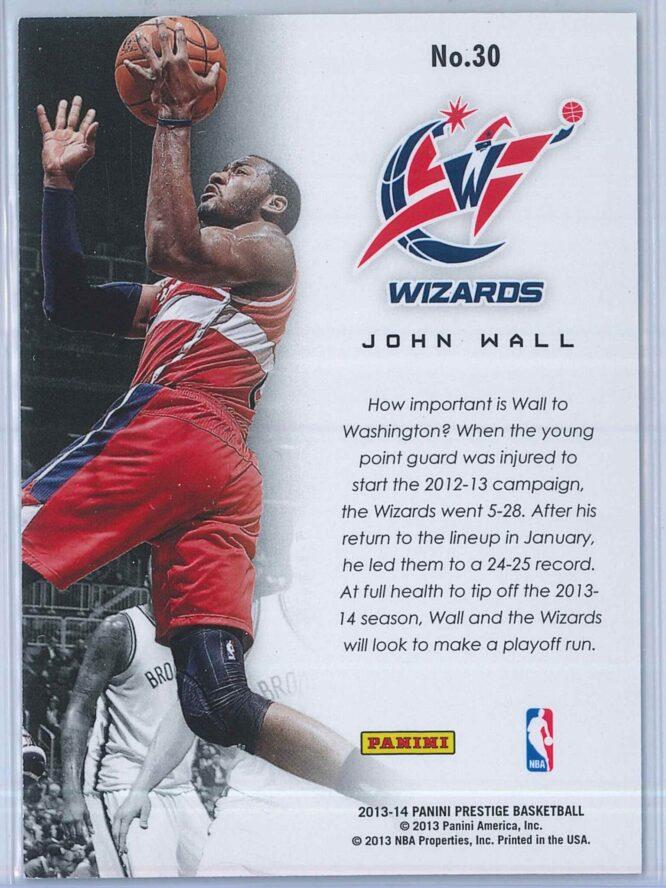 John Wall Panini Prestige Basketball 2013 14 Franchise Favorites 2
