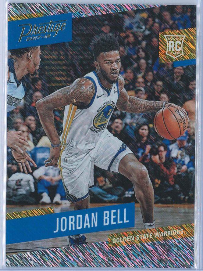 Jordan Bell Panini Prestige Basketball 2017-18 Base Rain Parallel  RC