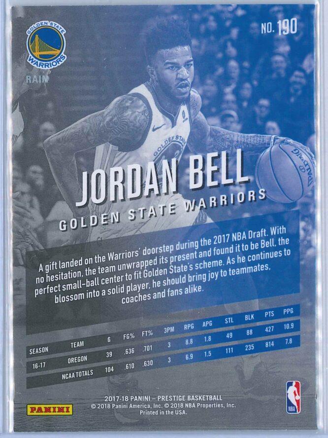 Jordan Bell Panini Prestige Basketball 2017 18 Base Rain Parallel RC 2