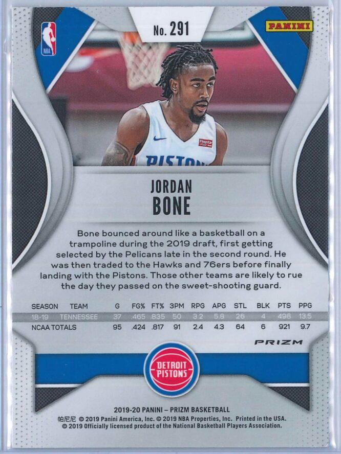 Jordan Bone Panini Prizm 2019 20 Red White Blue 2