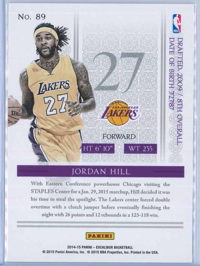 Jordan Hill Panini Excalibur Basketball 2014 15 Base 2