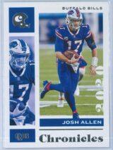 Josh Allen Panini Chronicles Football 2020 Base