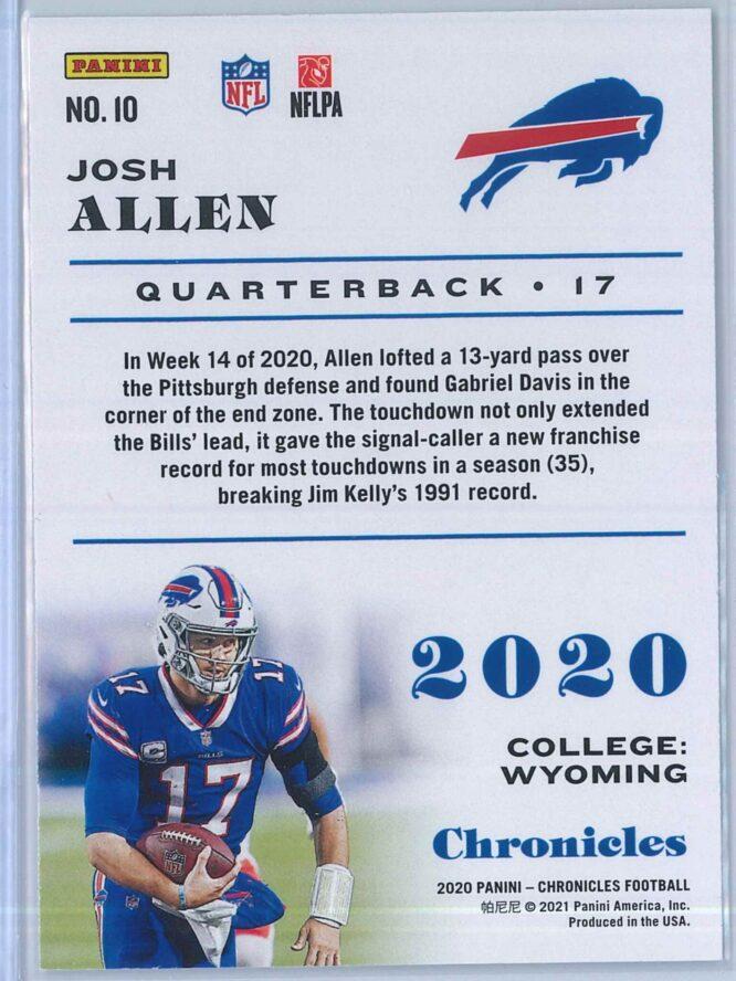 Josh Allen Panini Chronicles Football 2020 Base 2