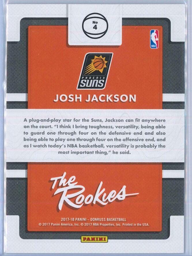 Josh Jackson Panini Donruss Basketball 2017 18 The Rookies Rookie Year 2
