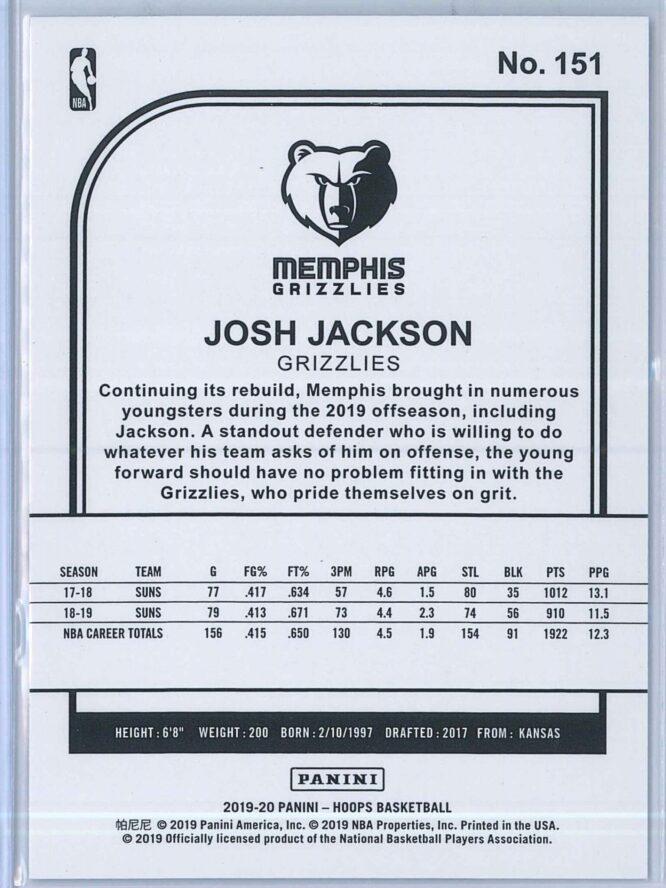 Josh Jackson Panini NBA Hoops 2019 20 Blue 2