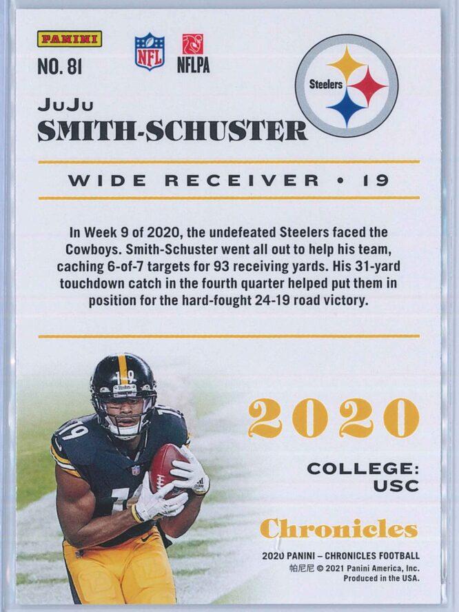 JuJu Smith Schuster Panini Chronicles Football 2020 Base 2
