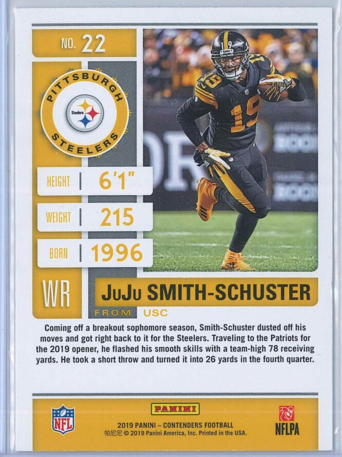 JuJu Smith Schuster Panini Contenders Football 2019 Base 2