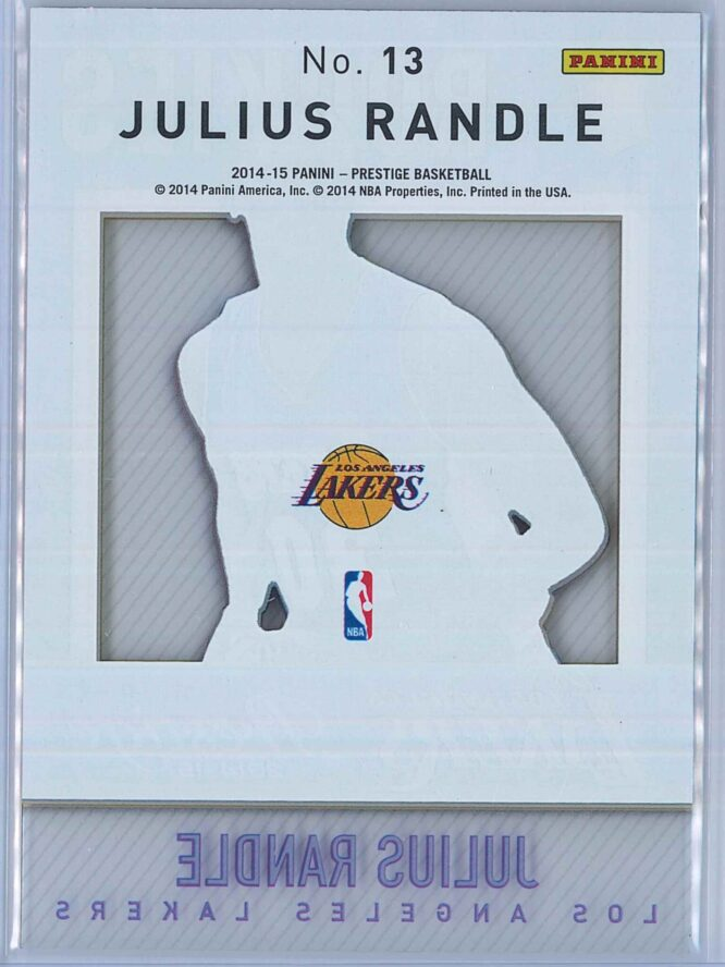 Julius Randle Panini Prestige Basketball 2014 15 Mystery Rookies 2