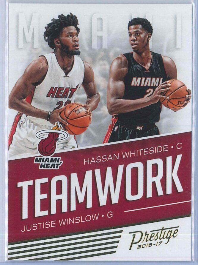 Justise Winslow - Hassan Whiteside Panini Prestige Basketball 2016-17 Teamwork